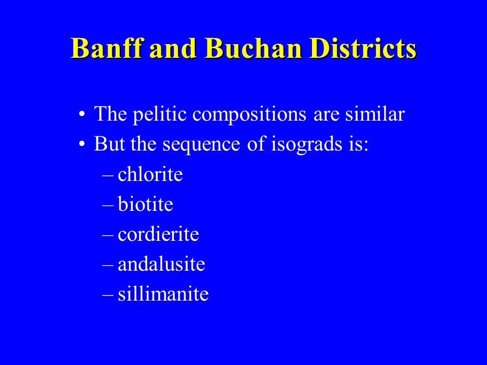 Banff and Buchan Districts