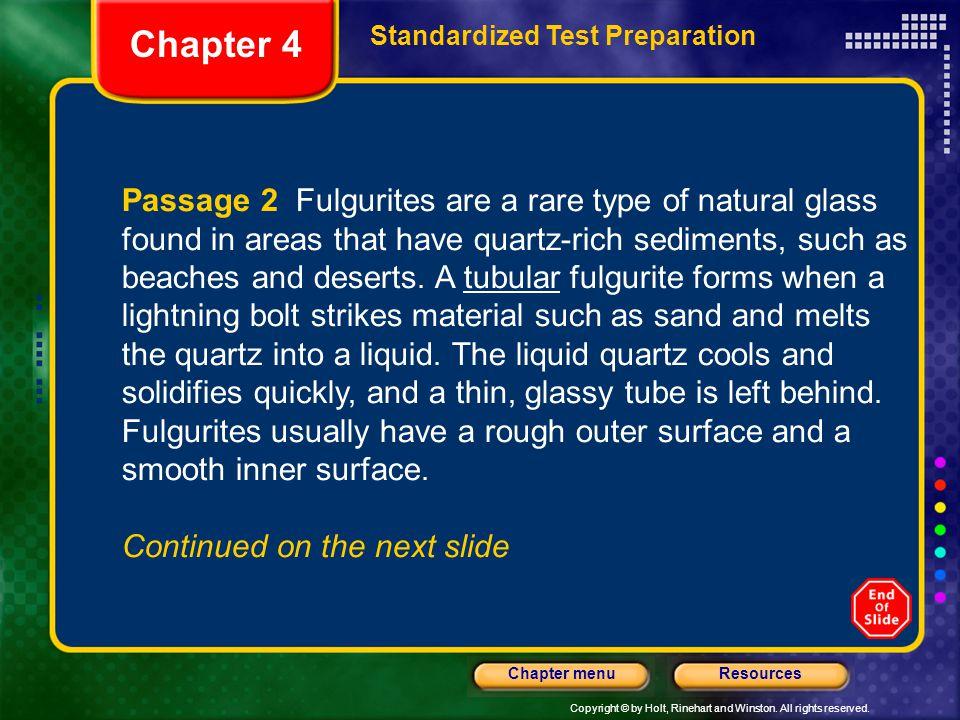 Chapter 4 Standardized Test Preparation.