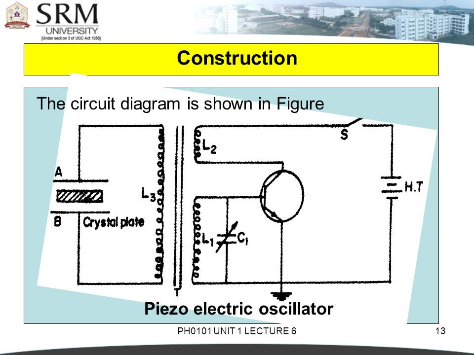 Piezo electric oscillator