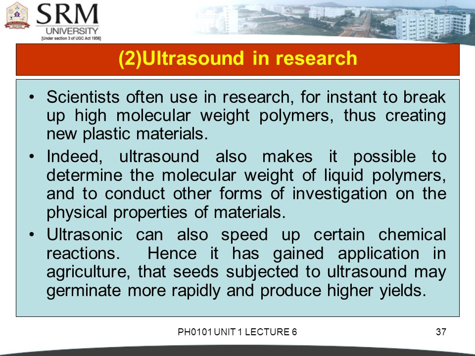(2)Ultrasound in research