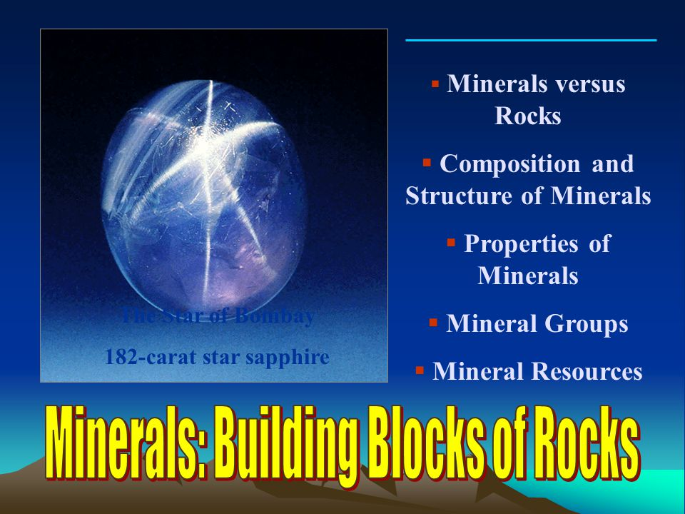 Composition and Structure of Minerals Properties of Minerals