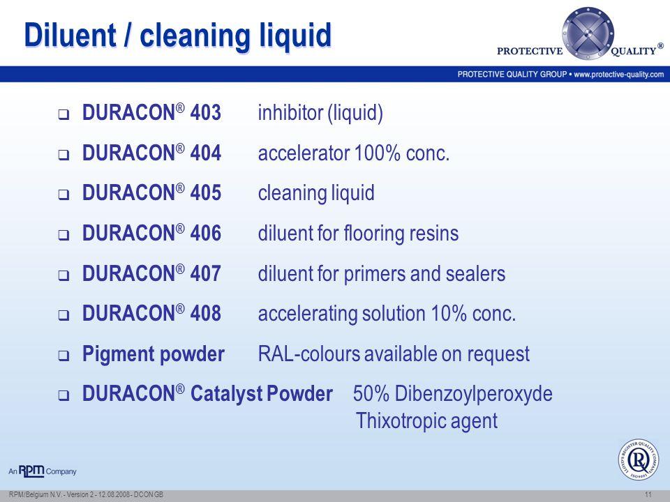 Diluent / cleaning liquid