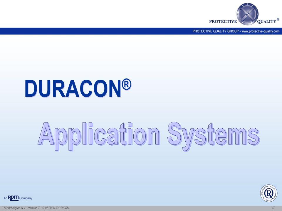 DURACON® Application Systems