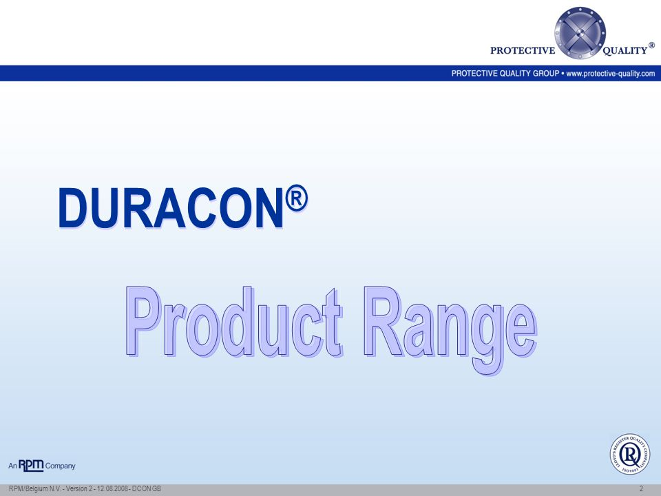 DURACON® Product Range