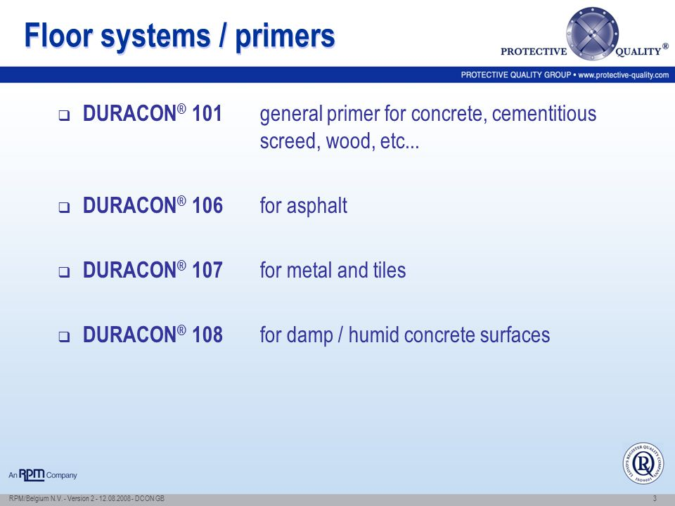 Floor systems / primers