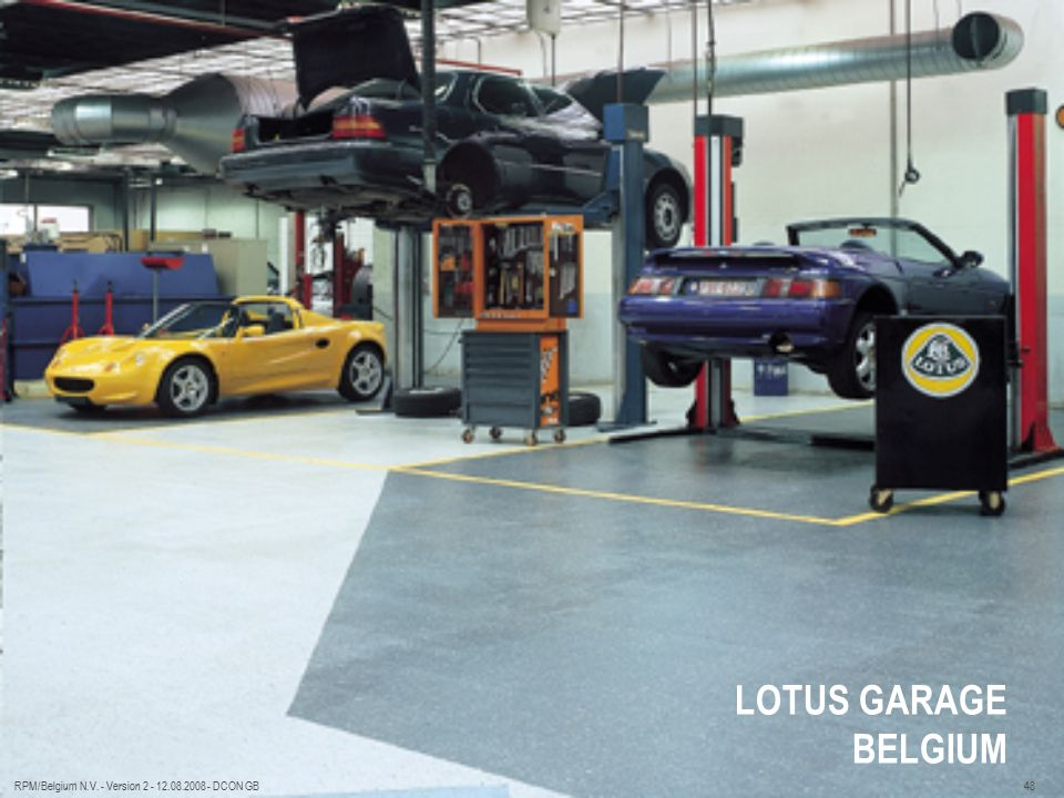 LOTUS GARAGE BELGIUM RPM/Belgium N.V. - Version 2 - 12.08.2008 - DCON GB