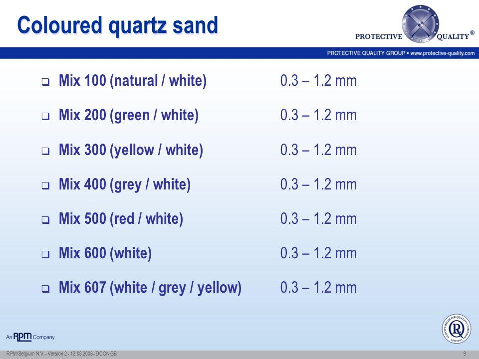 Coloured quartz sand Mix 100 (natural / white) 0.3 – 1.2 mm