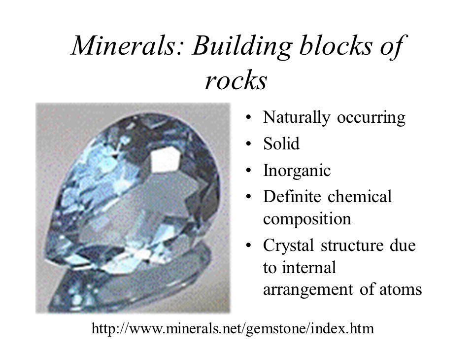 Minerals: Building blocks of rocks