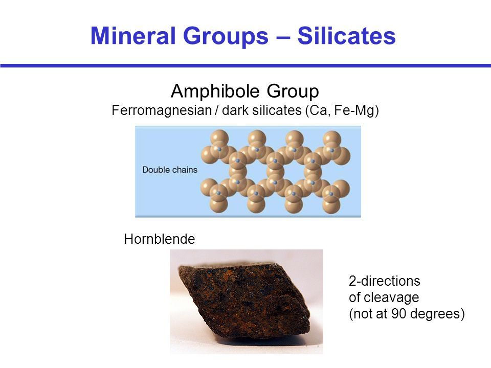 Mineral Groups – Silicates