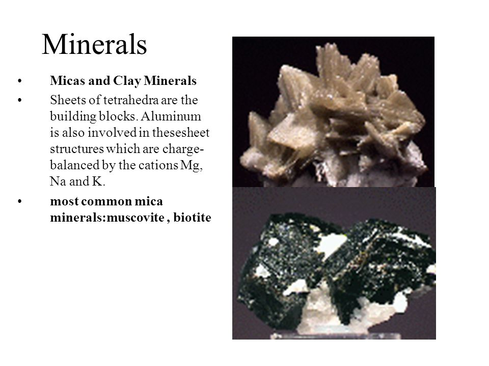 Minerals Micas and Clay Minerals