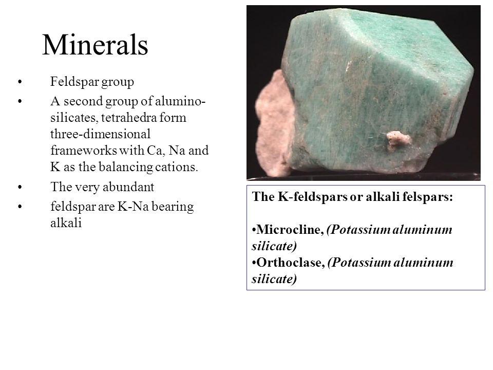 Minerals Feldspar group