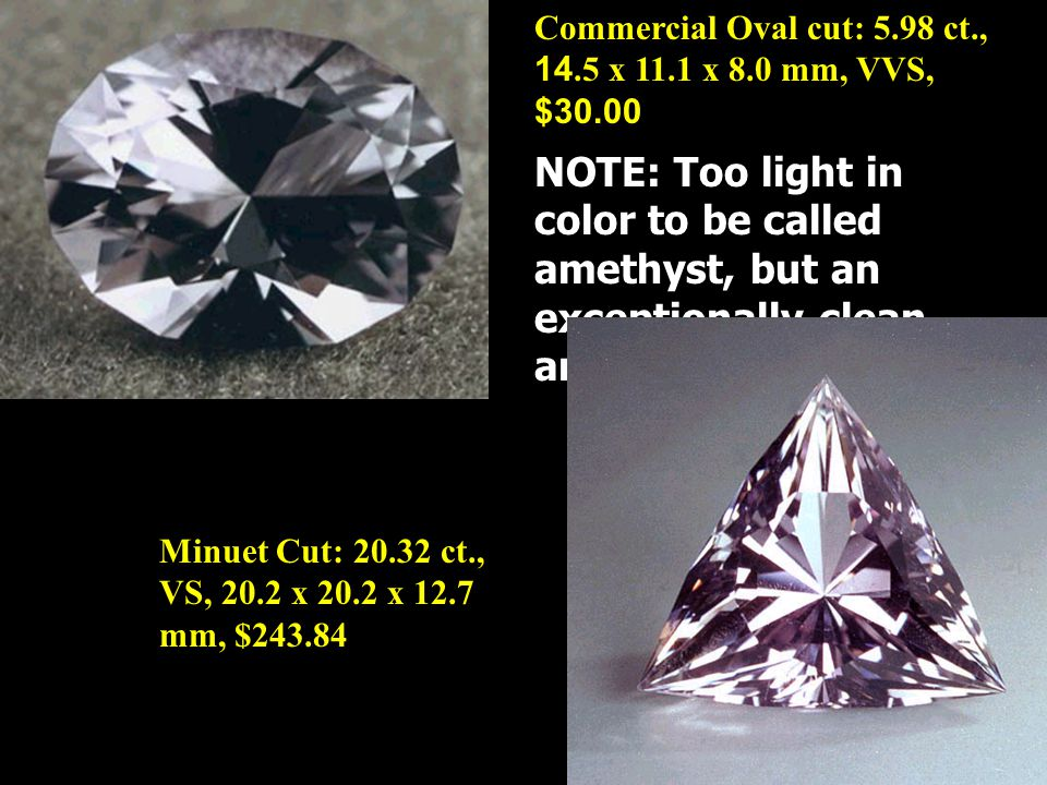 Commercial Oval cut: 5.98 ct., 14.5 x 11.1 x 8.0 mm, VVS, $30.00