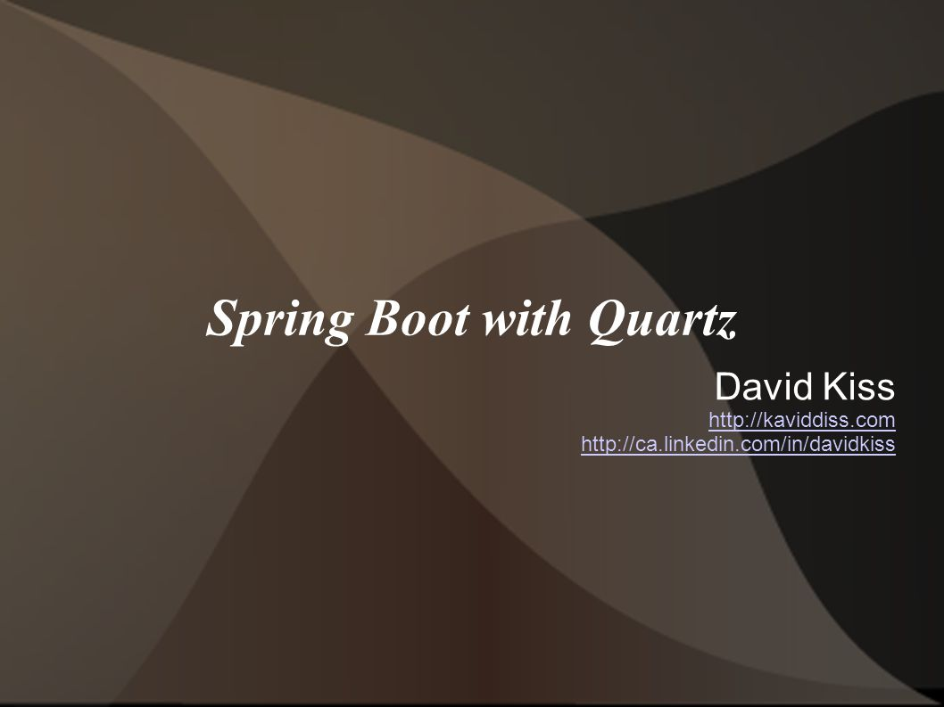 Spring Boot with Quartz