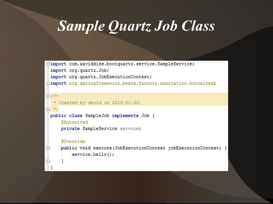 Sample Quartz Job Class