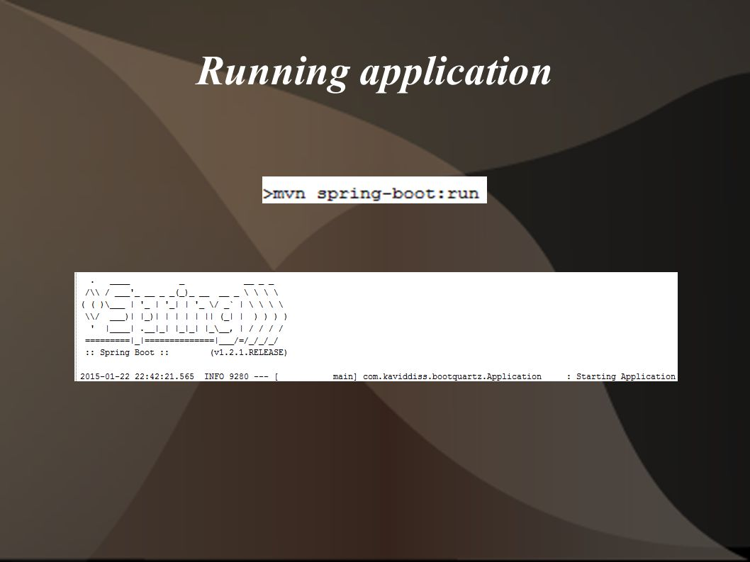 Running application