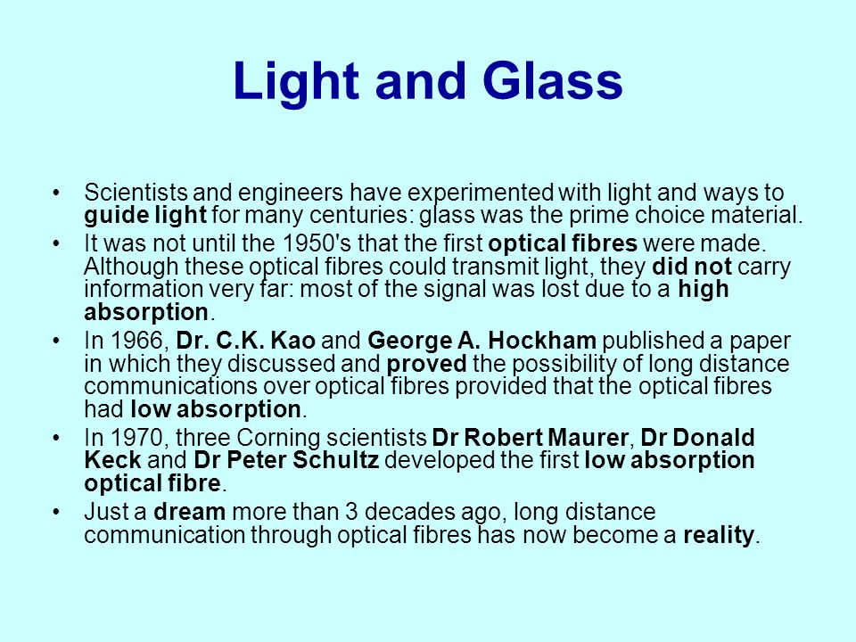 Light and Glass