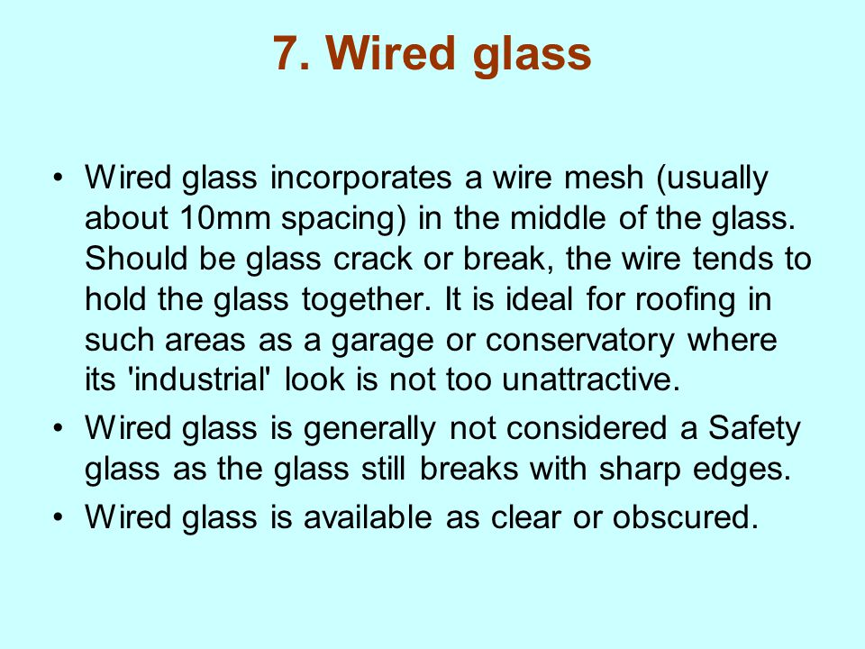 Generous Wire Glass Product Data Photos - Electrical and Wiring ...