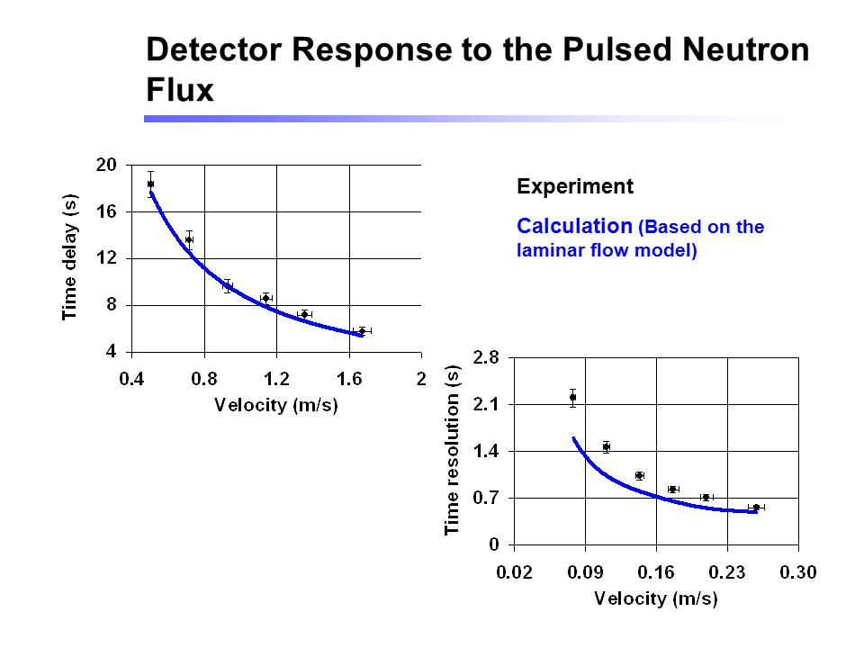 Detector Response to the Pulsed Neutron Flux