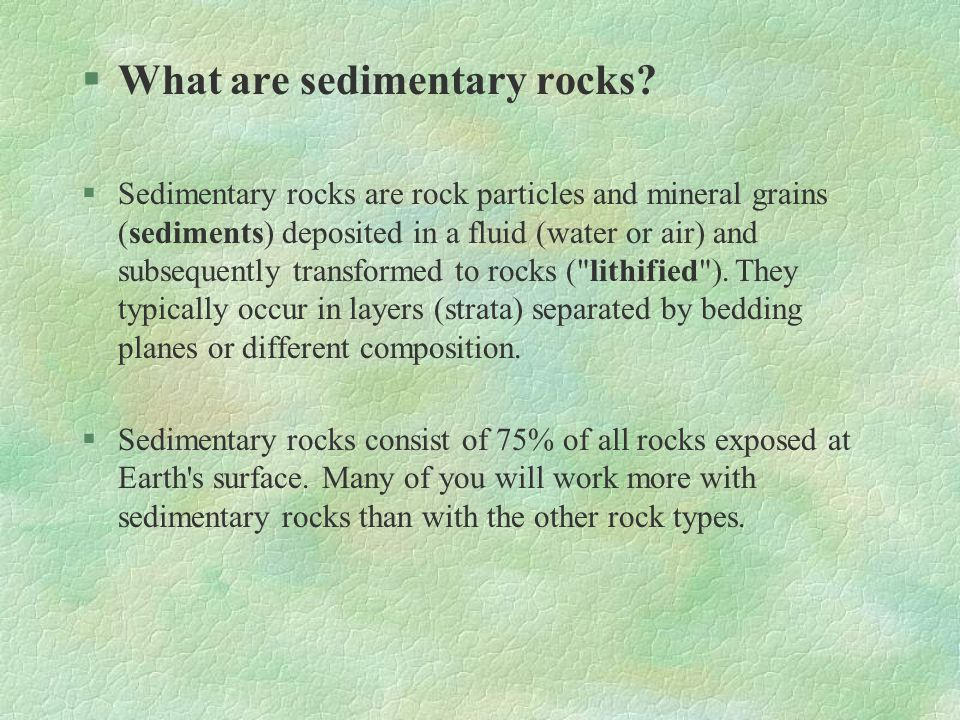 What are sedimentary rocks
