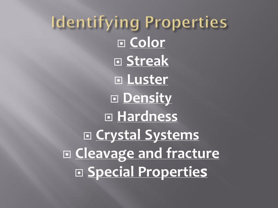 Identifying Properties