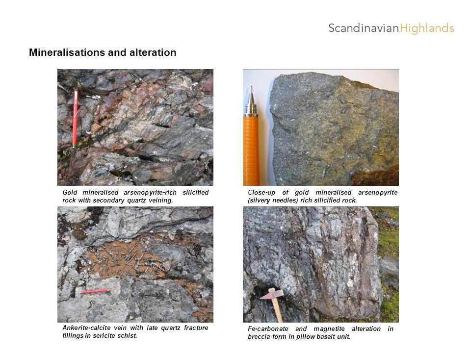 Mineralisations and alteration