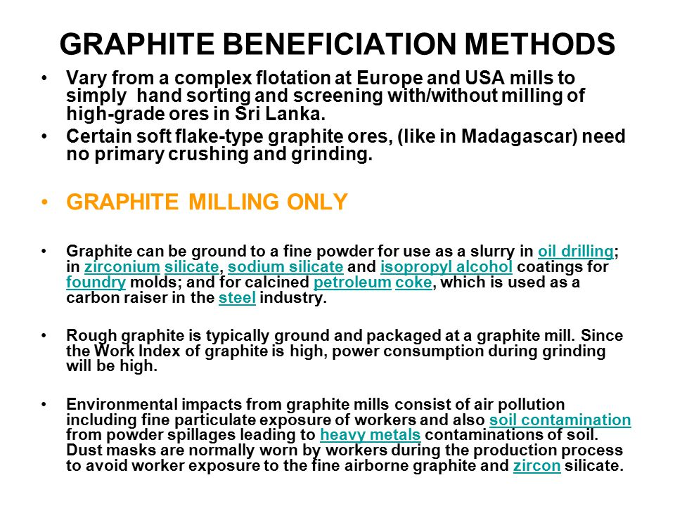 GRAPHITE BENEFICIATION METHODS