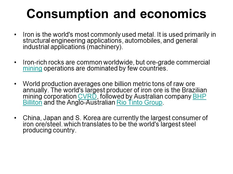 Consumption and economics