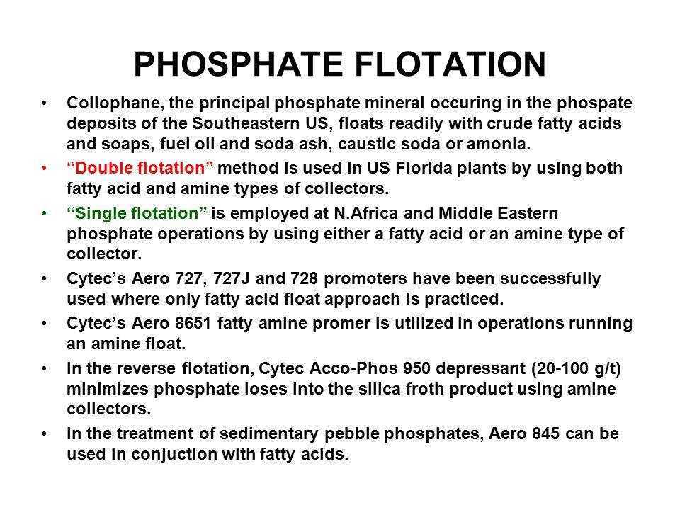 PHOSPHATE FLOTATION