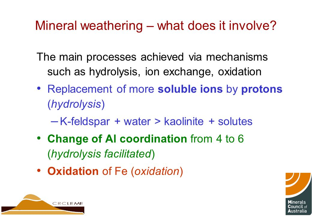 Mineral weathering – what does it involve
