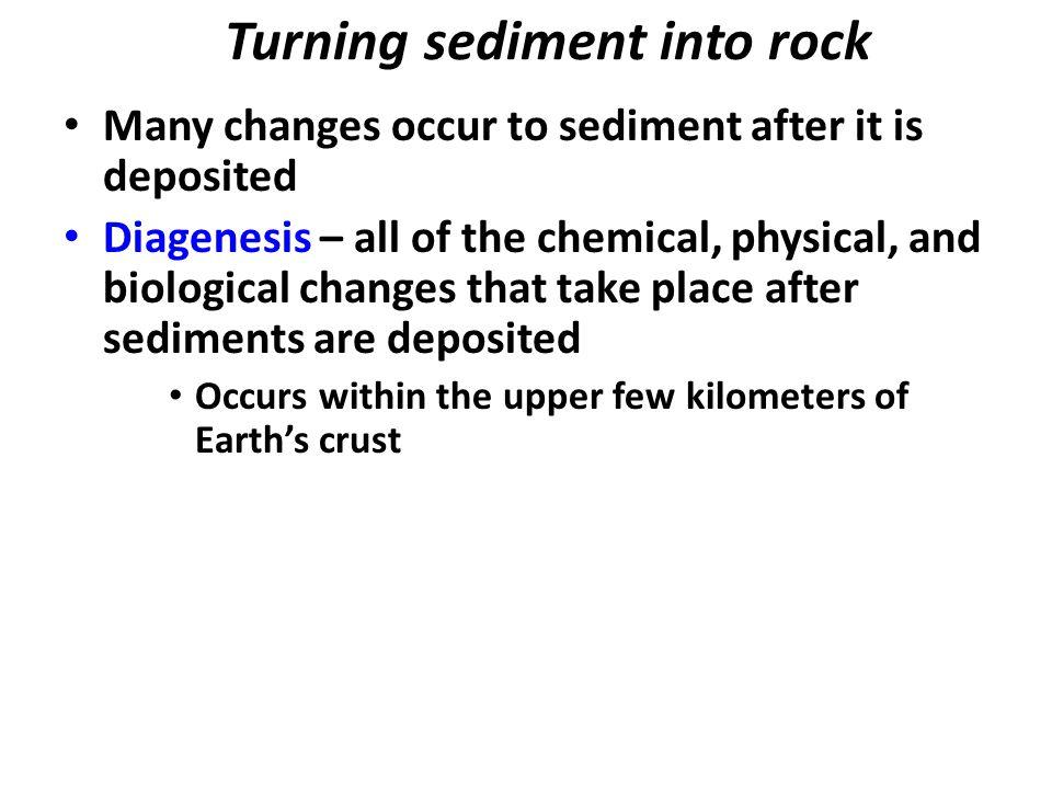 Turning sediment into rock