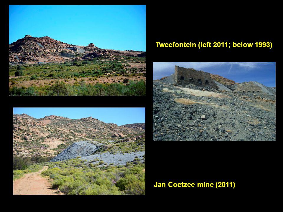 Tweefontein (left 2011; below 1993)