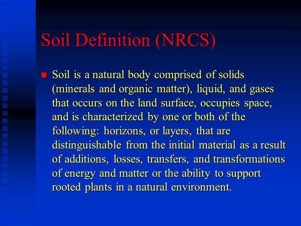 Soil Definition (NRCS)