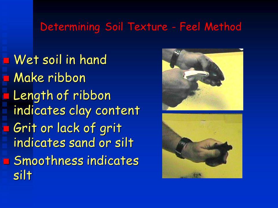 Determining Soil Texture - Feel Method