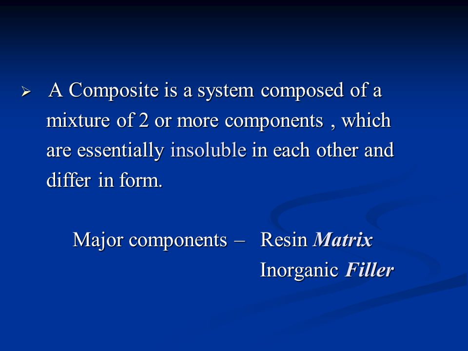 A Composite is a system composed of a