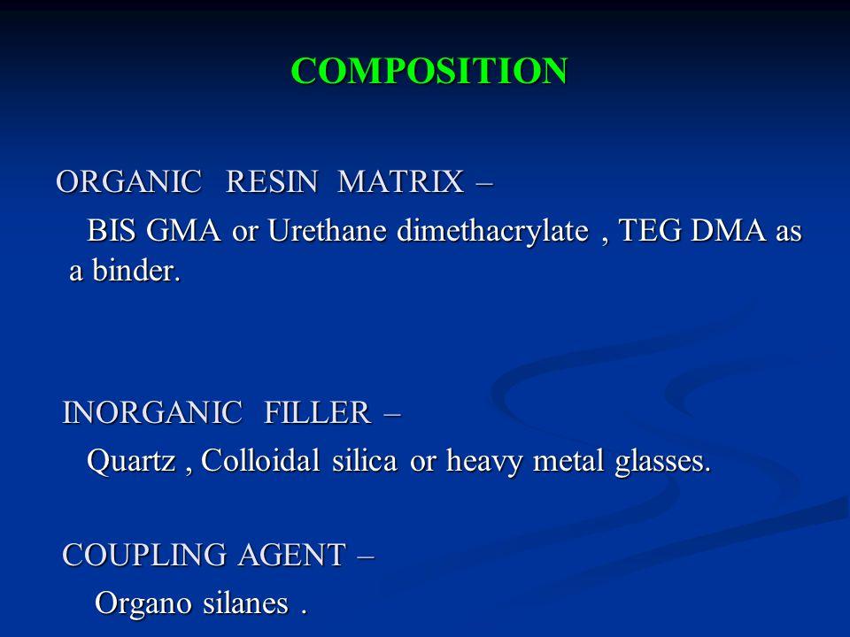 COMPOSITION ORGANIC RESIN MATRIX –