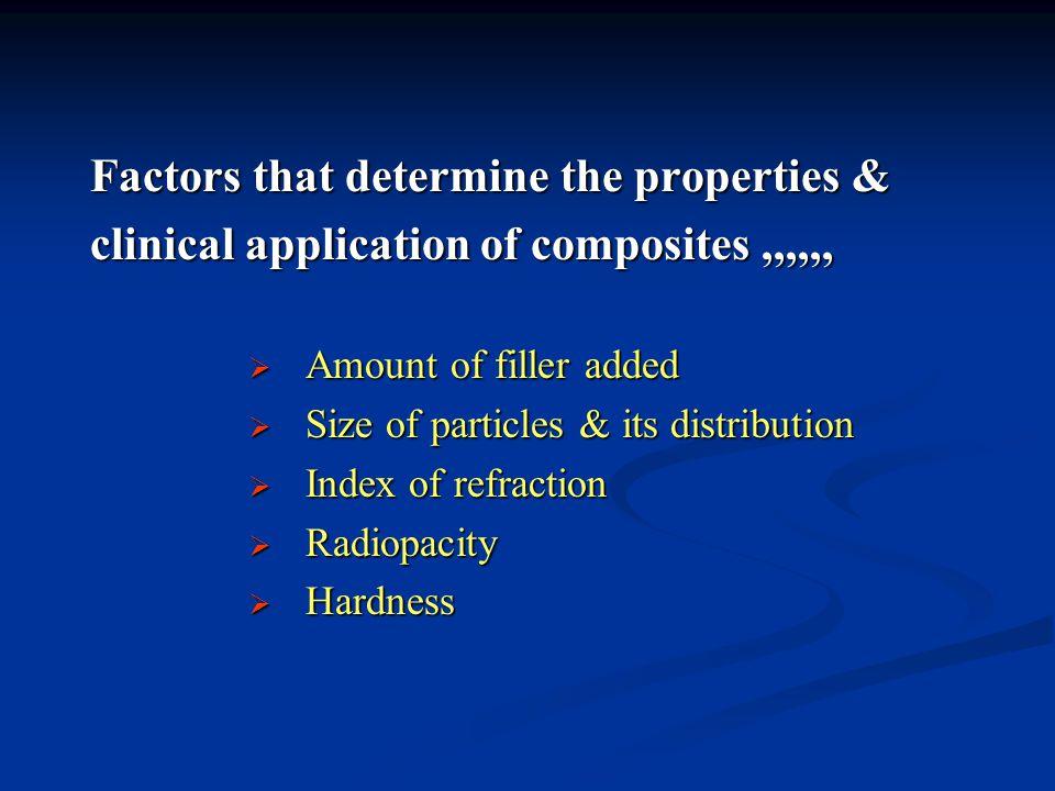 Factors that determine the properties &