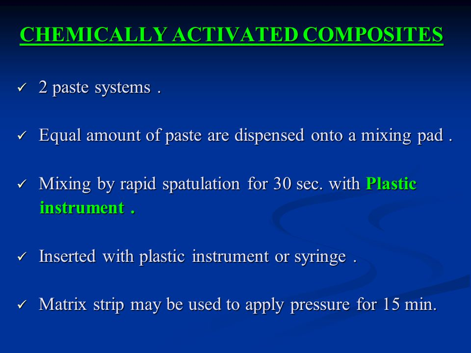 CHEMICALLY ACTIVATED COMPOSITES