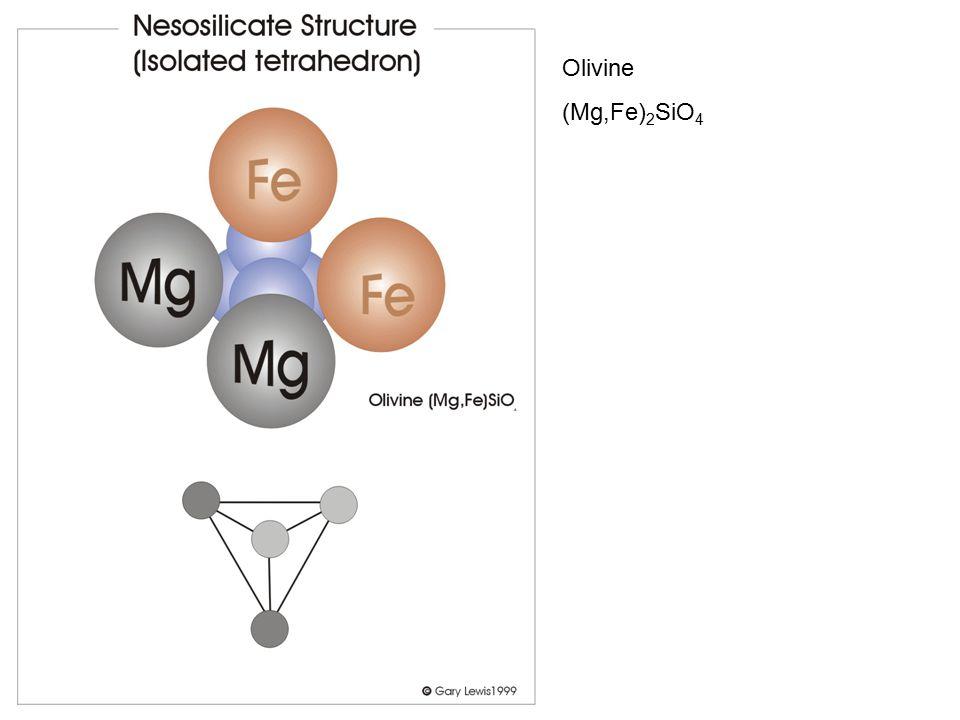 Olivine (Mg,Fe)2SiO4