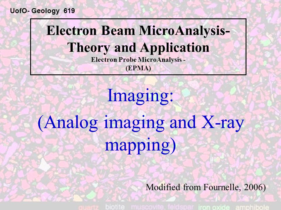 (Analog imaging and X-ray mapping)