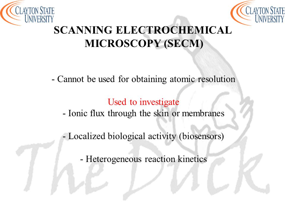 SCANNING ELECTROCHEMICAL