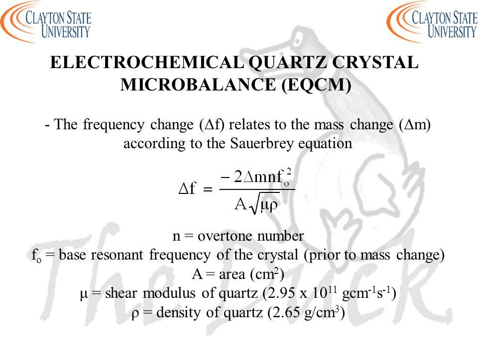 ELECTROCHEMICAL QUARTZ CRYSTAL