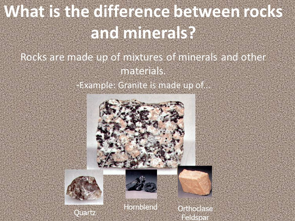 What is the difference between rocks and minerals
