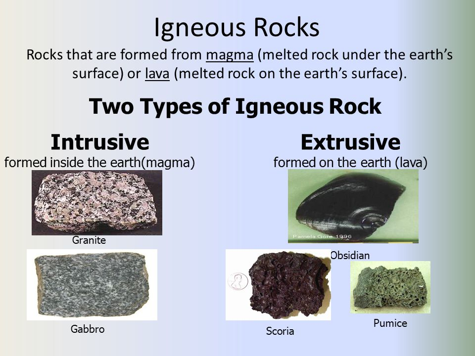 Two Types of Igneous Rock