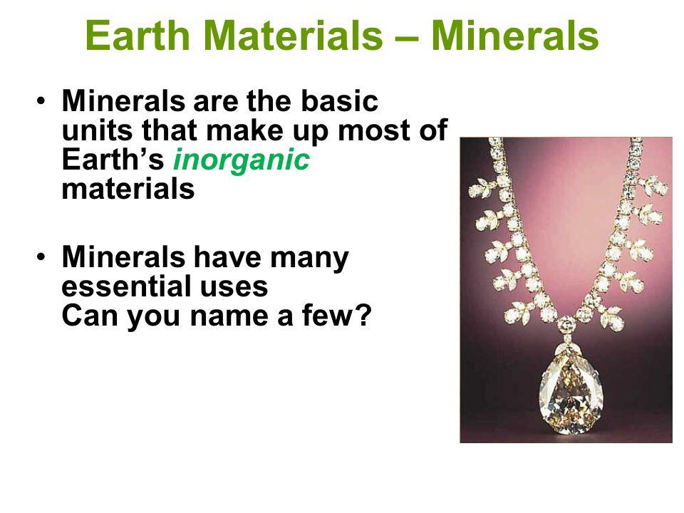 Earth Materials – Minerals