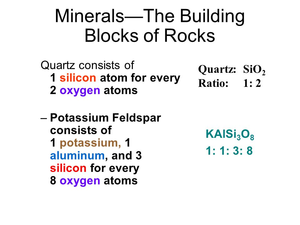 Minerals—The Building Blocks of Rocks