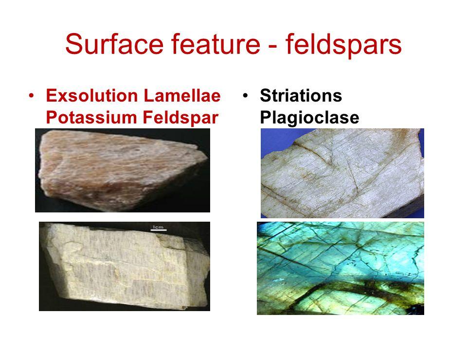 Surface feature - feldspars