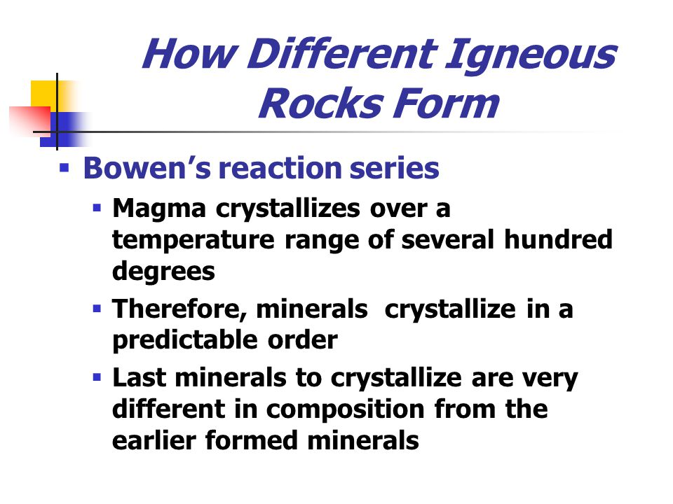 How Different Igneous Rocks Form