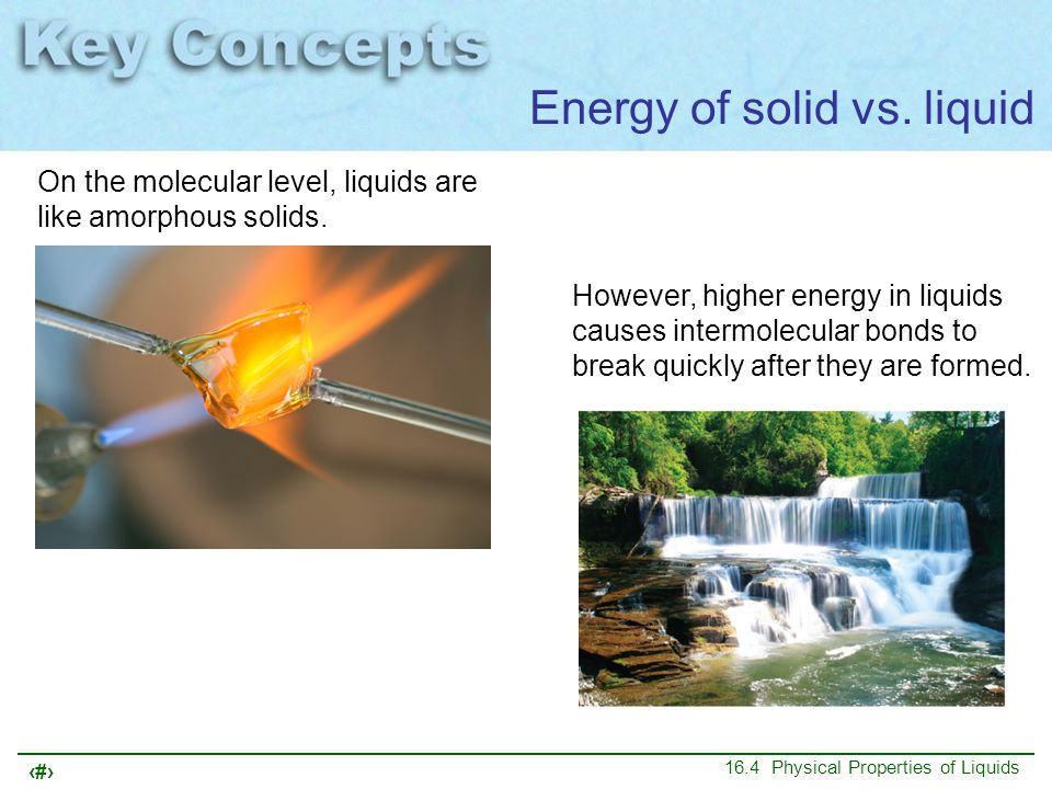 Energy of solid vs. liquid