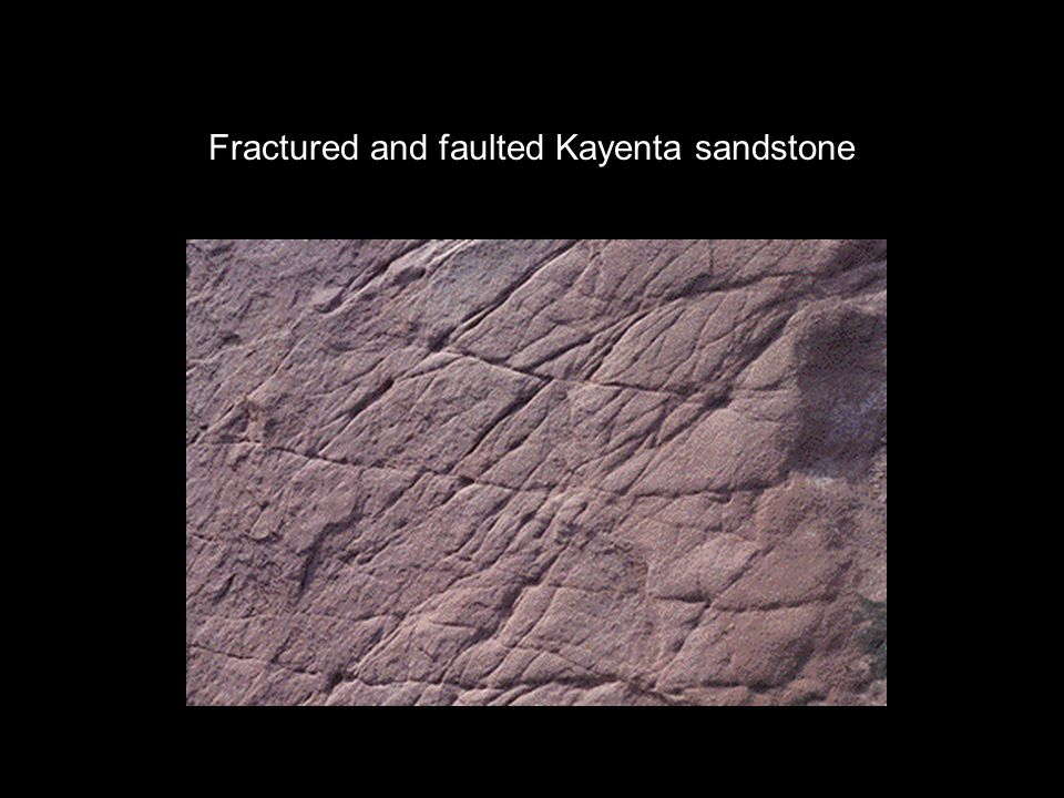 Fractured and faulted Kayenta sandstone