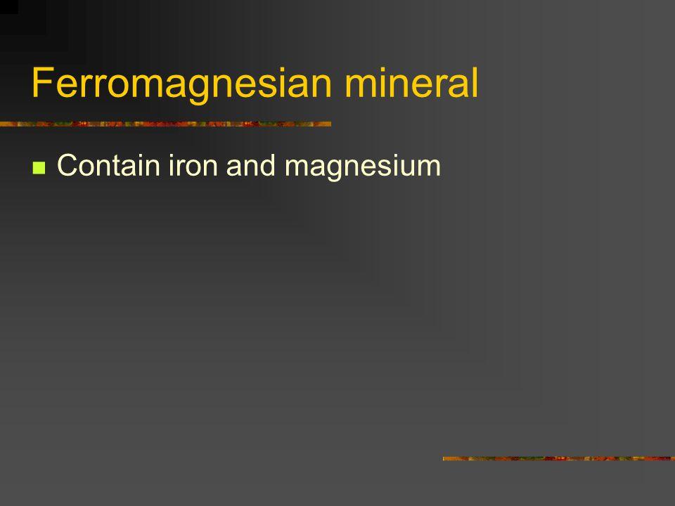 Ferromagnesian mineral